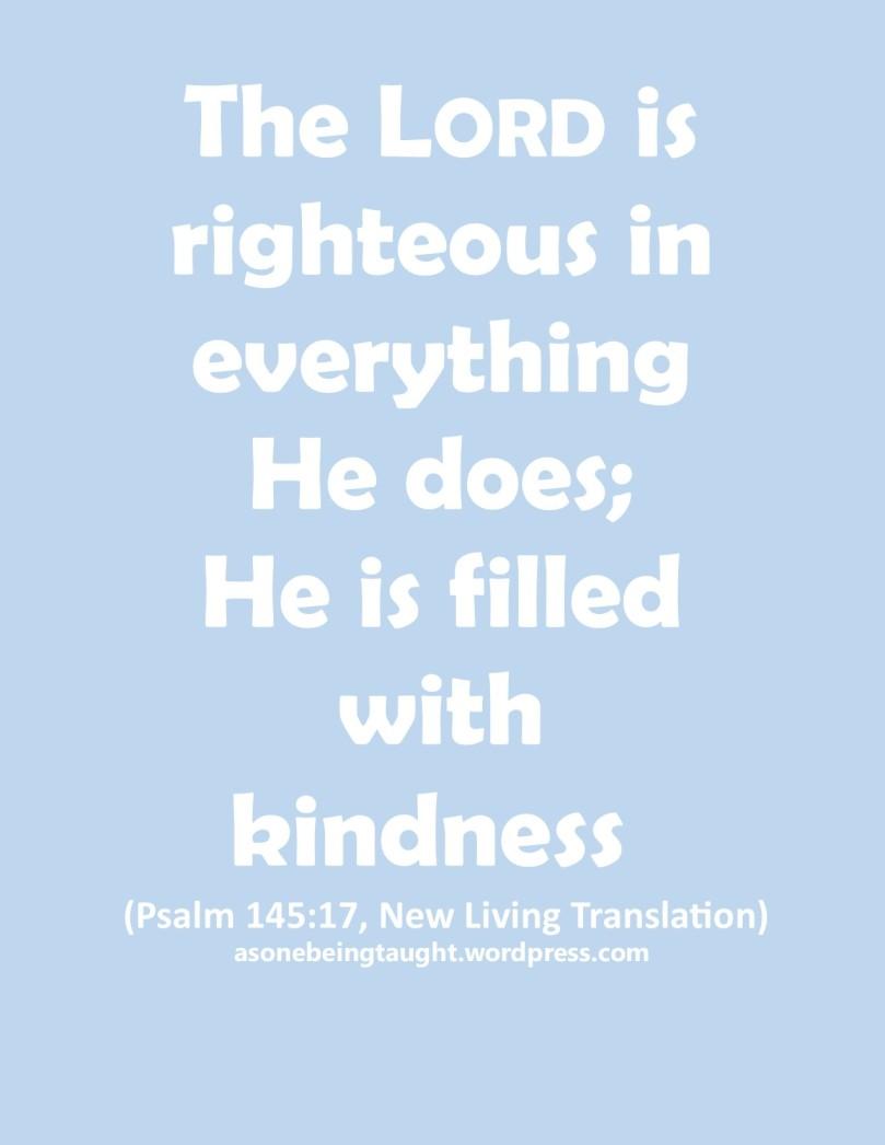 Psalm 145 v 17